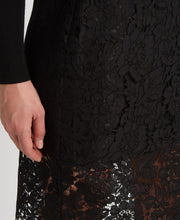 DVF Glimmer Lace Pencil Skirt Black