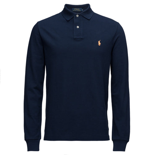 Polo Ralph Lauren Long Sleeve Comfort Fit Polo Shirt Newport Navy