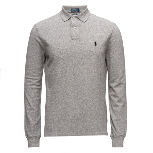 Polo Ralph Lauren Long Sleeve Comfort Fit Polo Shirt Andover Grey