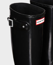 Hunter Original Tall Wellington Boots Black Gloss