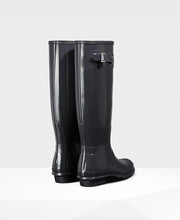 Hunter Original Tall Wellington Boots Dark Slate Gloss