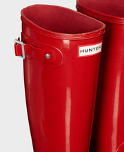 Hunter Original Tall Wellington Boots Military Red Gloss