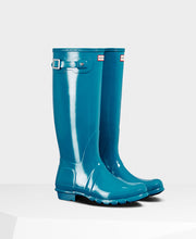 Hunter Original Tall Wellington Boots Ocean Gloss