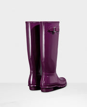 Hunter Original Tall Wellington Boots Purple Gloss