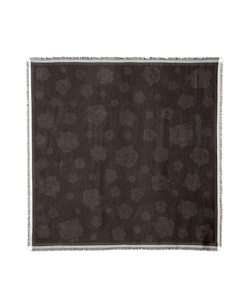 Kenzo All Over Tiger Scarf Dark Grey