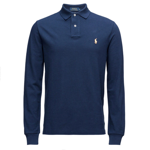 Polo Ralph Lauren Long Sleeve Comfort Fit Polo Shirt Classic Royal Heather