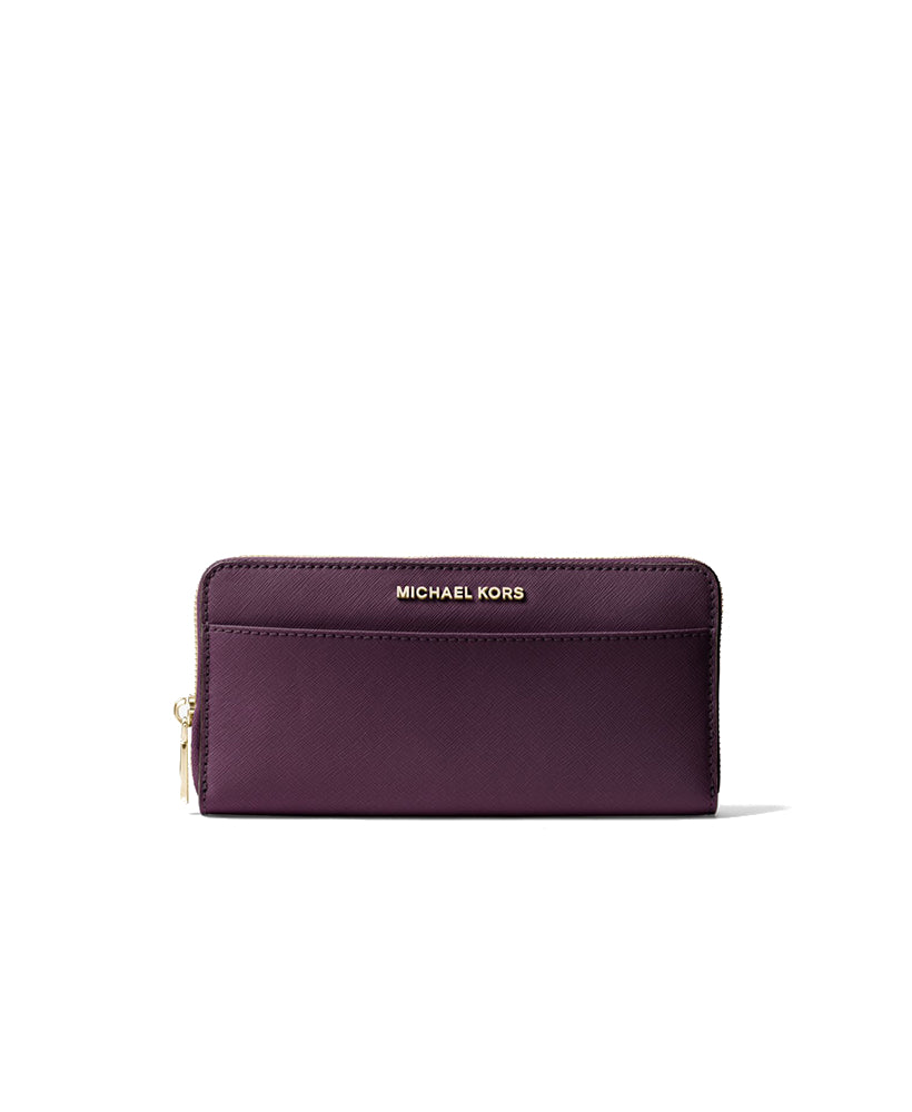 f1a796486093 Michael Kors Jet Set Travel Saffiano Leather Continental Wallet Damson –  Maison Lorenz Bach