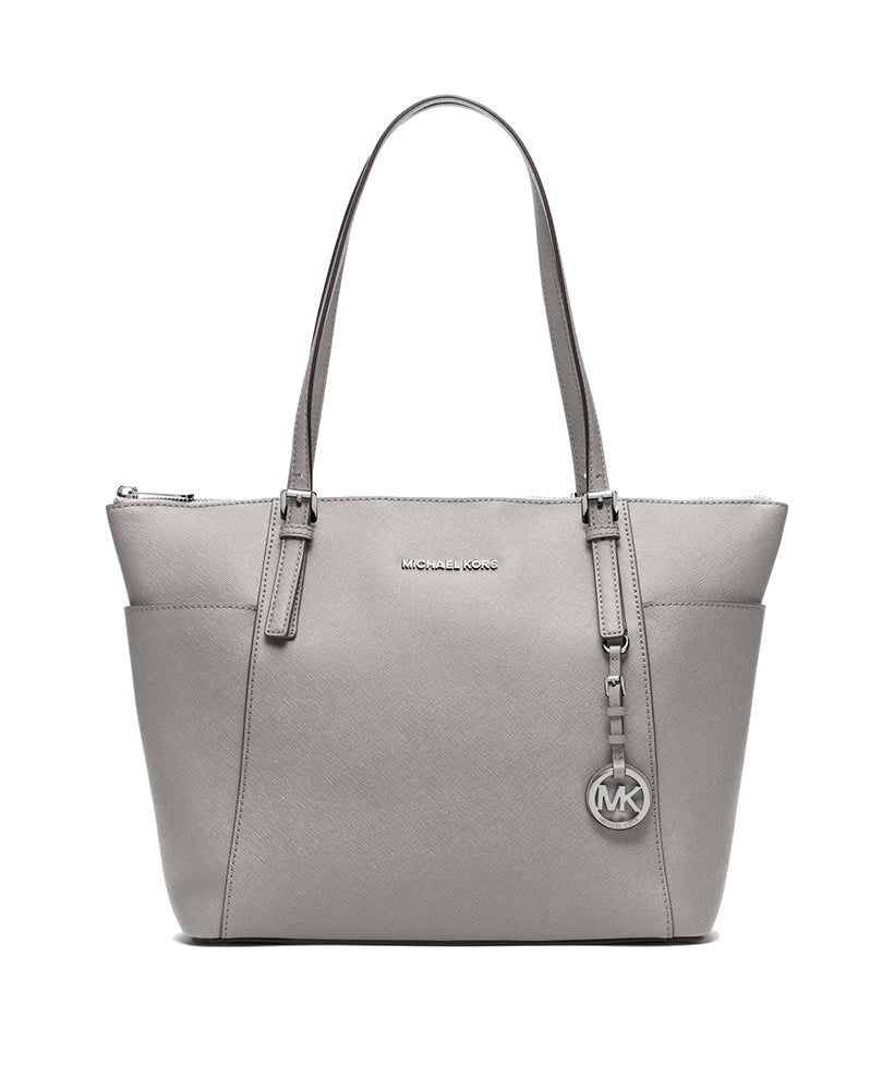 f722495430a8 Michael Kors Jet Set Top Zip Saffiano Leather Tote Pearl Grey – Maison  Lorenz Bach