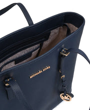 Michael Kors Jet Set Travel Saffiano Leather Top Zip Tote