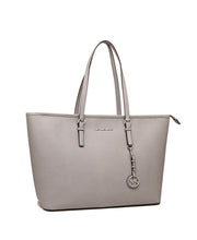 Michael Kors Jet Set Travel Medium Saffiano Leather Top Zip Tote