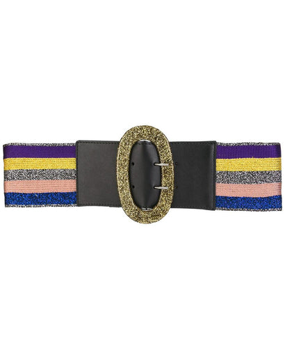 Missoni Stripe Belt Golden Buckle