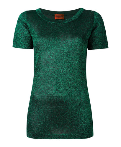 Missoni Metallic Effect Knit T-shirt Green