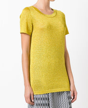 Missoni Glitter Effect T-shirt Yellow