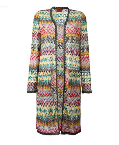 Missoni Waved-Striped Long Cardigan