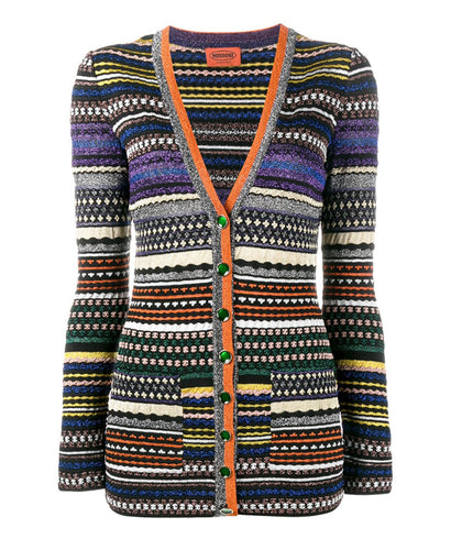 Missoni Striped Metallic Cardigan