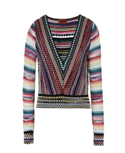 Missoni V-Neck Knitted Top