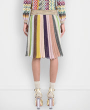 Missoni Pleated Striped Midi Skirt