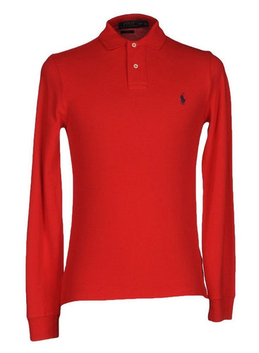 Polo Ralph Lauren Long Sleeve Comfort Fit Polo Shirt Eaton Red