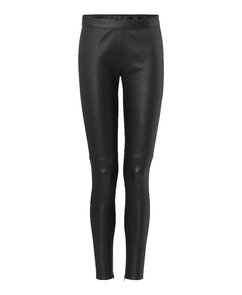 Philipp Plein Fonte Leather Leggings Black