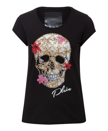 Philipp Plein Flowery T-shirt Black