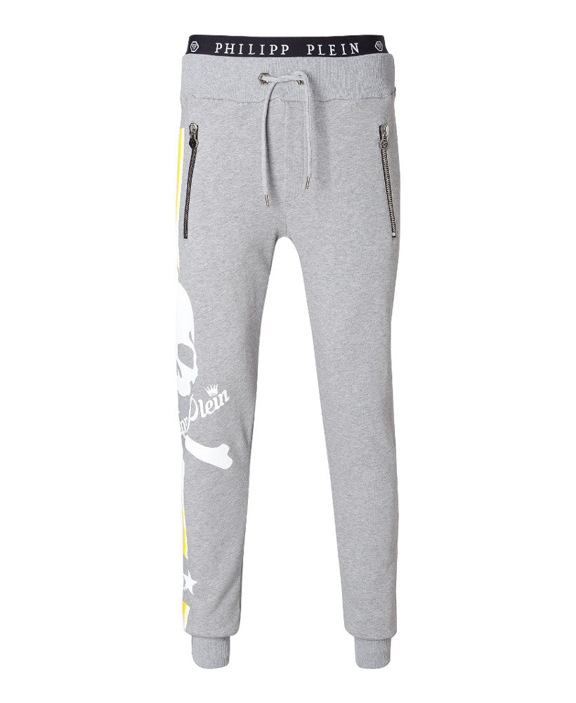 Philipp Plein Status Jogging Trousers Grey Melange