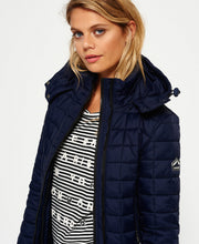 Superdry Hooded Box Quilt Fuji Jacket Sport Code Navy