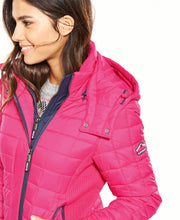 Superdry Hooded Box Quilt Fuji Jacket Sport Code Pink