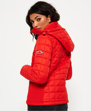 Superdry Hooded Box Quilt Fuji Jacket Sport Code Red
