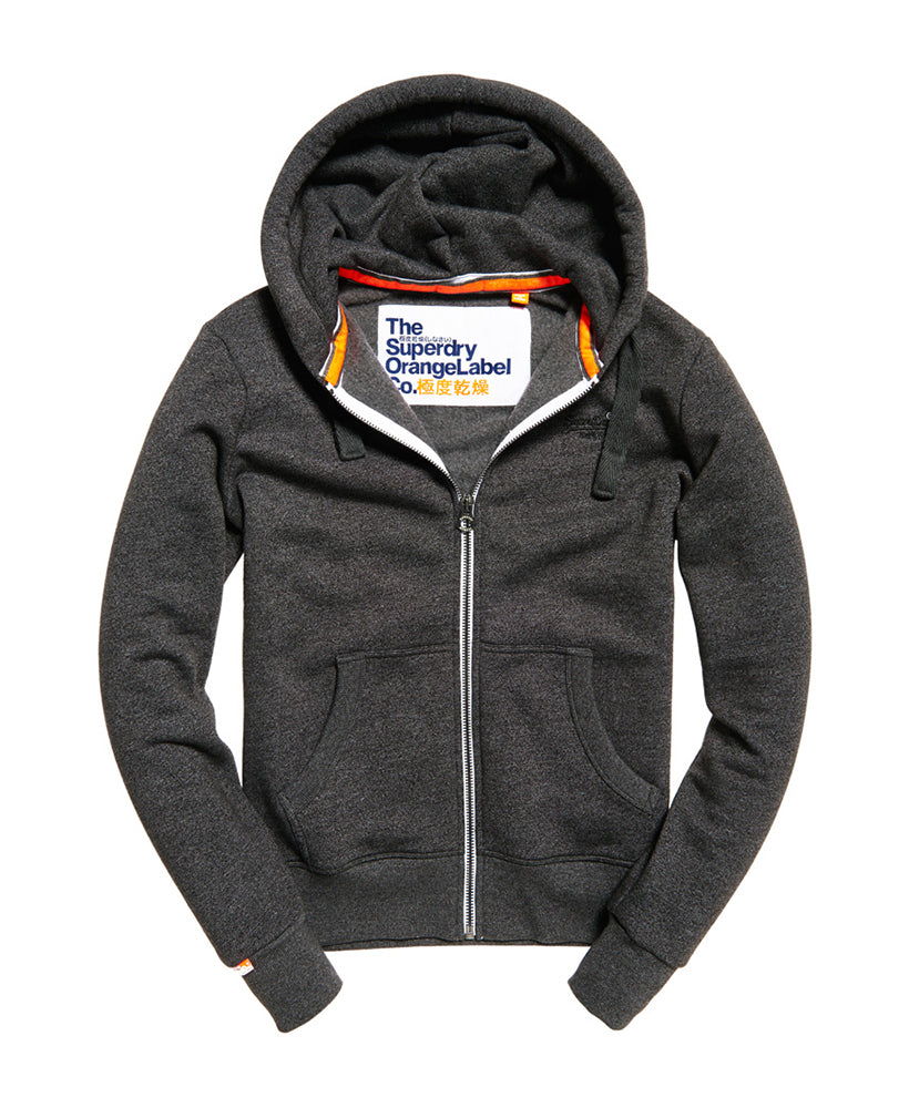 Superdry Orange Label Ziphood Low Light Black Grit