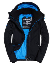Superdry Tech Hood Pop Zip Windcheater Black Super Denby