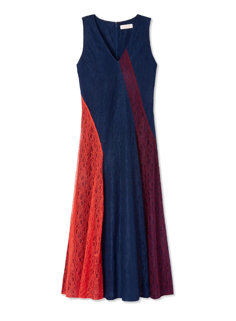 Tory Burch Illiana Dress Port, Red Canyon & Royal Navy