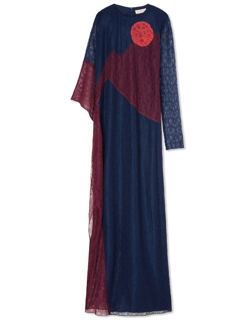 Tory Burch Cecilia Caftan Port, Red Canyon & Royal Navy