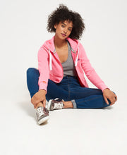 Superdry Orange Label Primary Zip Hoodie Blizzard Pink