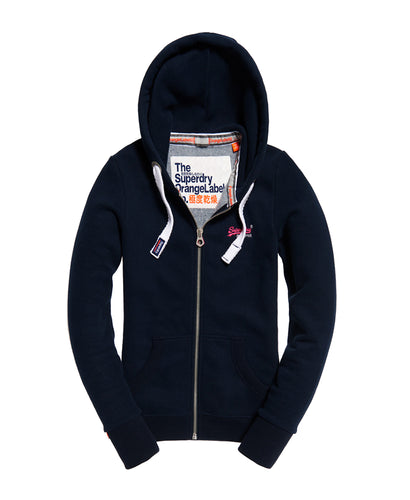 Superdry Orange Label Primary Zip Hoodie Eclipse Navy