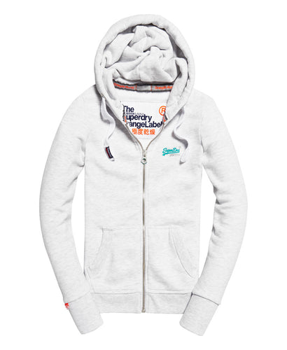 Superdry Orange Label Primary Zip Hoodie Ice Marl