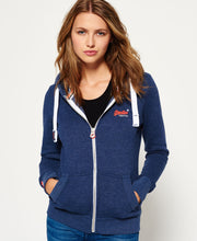 Superdry Orange Label Primary Zip Hoodie Princeton Blue