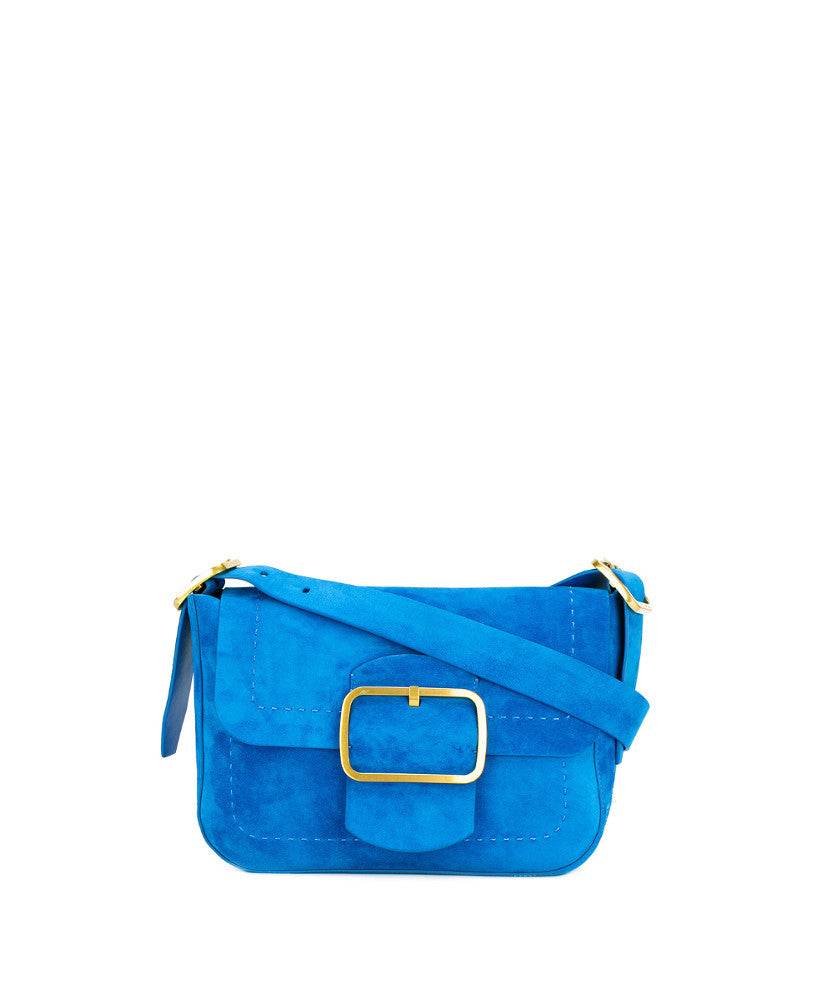 Tory Burch Sawyer Suede Shoulder Bag Blue