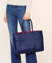 Tory Burch Block-T Brogue Tote Royal Navy
