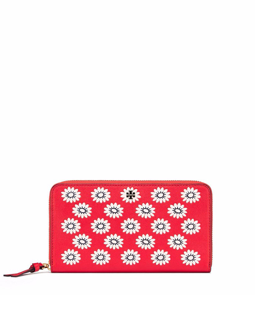 Tory Burch Primrose Zip Continental Wallet Cherry Apple