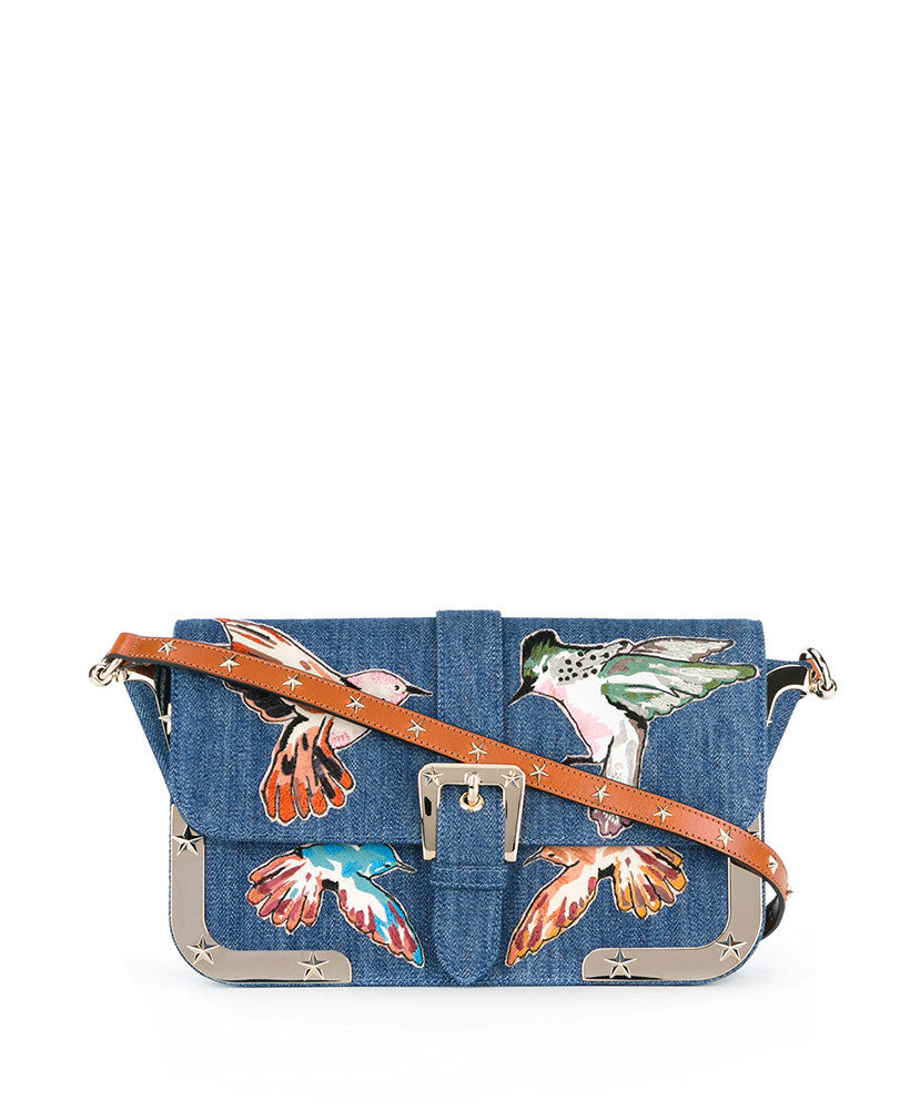 d35cd7ac369 Red Valentino Embroidered Birds Shoulder Bag Blue – Maison Lorenz Bach