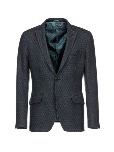Etro Honeycomb Jacket Blue