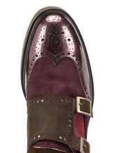 Etro Leather Double Monk Strap Shoes Multicoloured