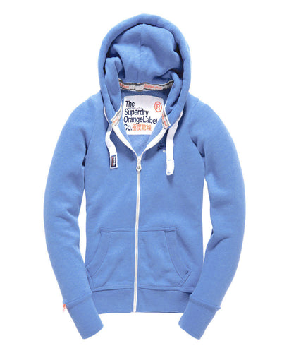 Superdry Orange Label Primary Zip Hoodie Sail Away Blue