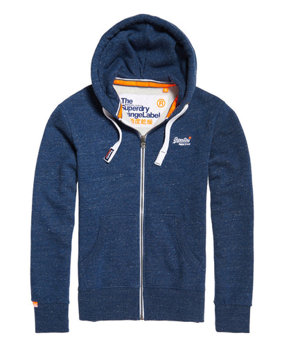 Superdry Orange Label Zip Through Hoodie Eclipse Navy