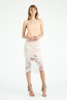 f35b8ef08 DONT TELL ME MIDI SKIRT WHITE WITH NUDE UNDERLAY – emma&me