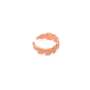 #FeatherCuff Ørering - Rosa forgyldt Sterling sølv. Dropps By Szhirley.