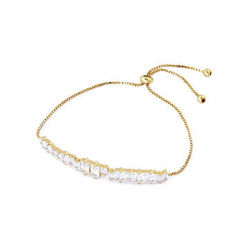 White #Candy Gold armbånd 26 cm - 18 K Forgyldt Sterling sølv med klare zirkoner. Dropps Selected by Szhirley