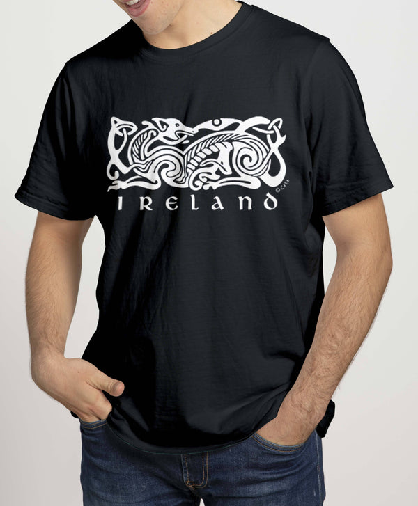 IRELAND CELTIC DOG V2 Mens T-Shirts Cara Craft S BLACK