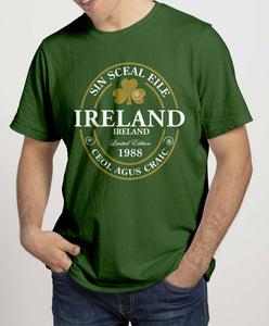 IRELAND LABEL 88 Mens T-Shirts Cara Craft S Bottle Green