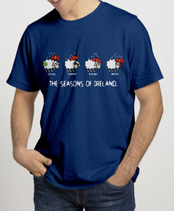 SEASONS OF IRELAND LINE Mens T-Shirts Cara Craft S NAVY